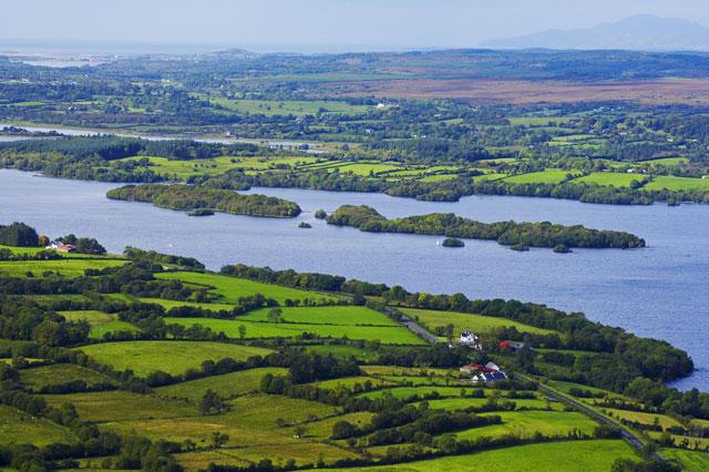 Boating on the idyllic Irish lake of Lough Allen
