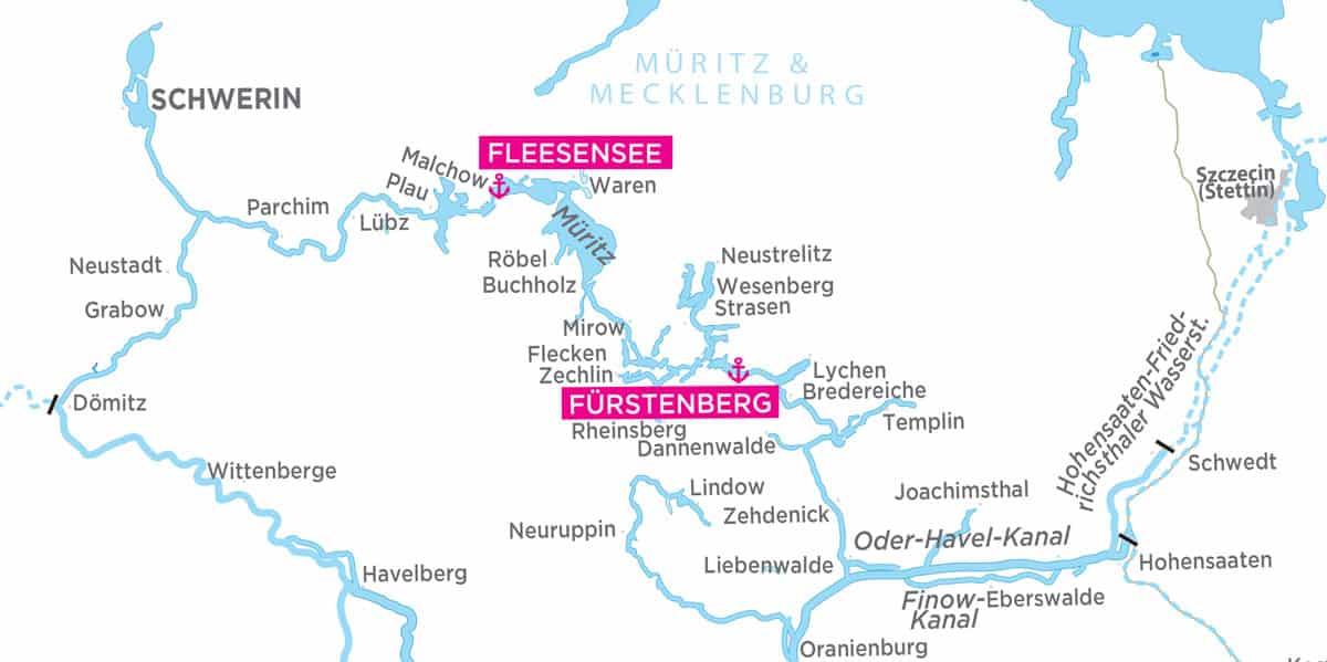 mecklenburg vorpommern karte flüsse