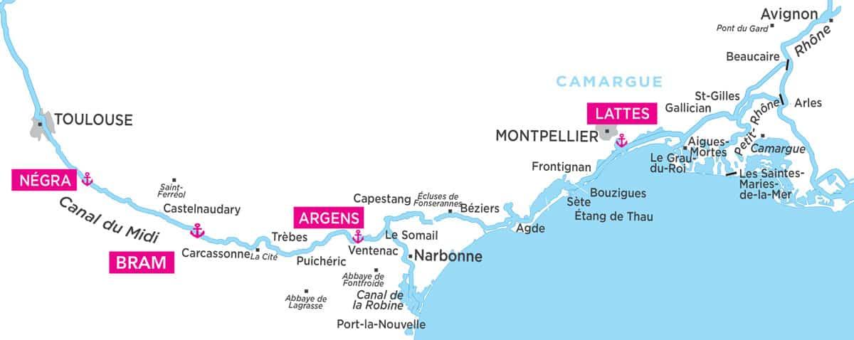 Canal du Midi Karte