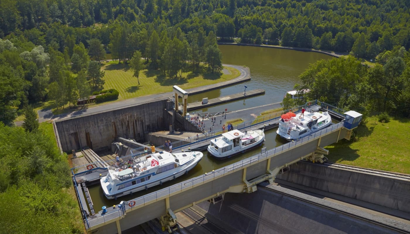 Das legendäre Bootshebewerk in Arzviller