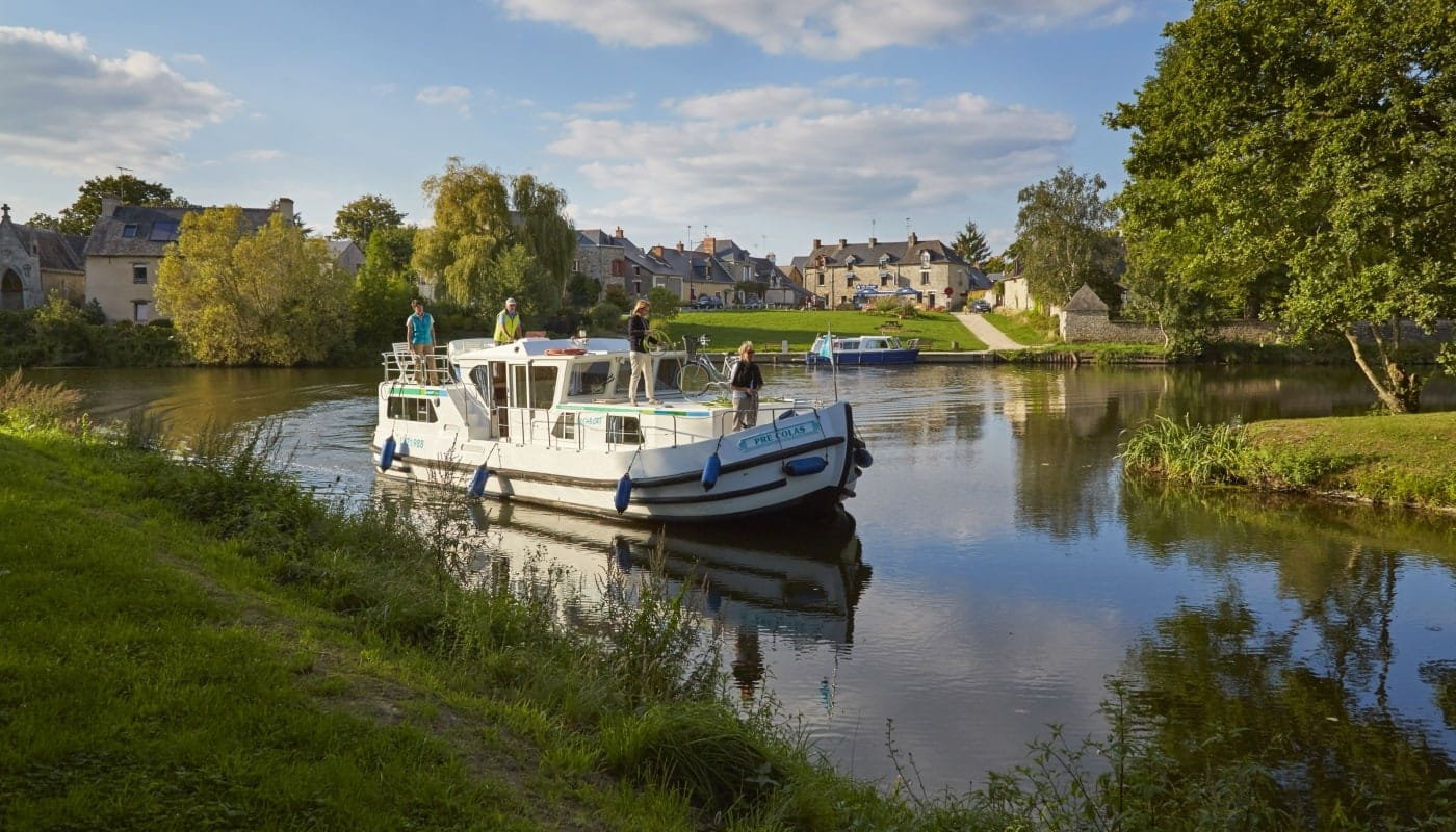 Canal cruise in Brittany, France