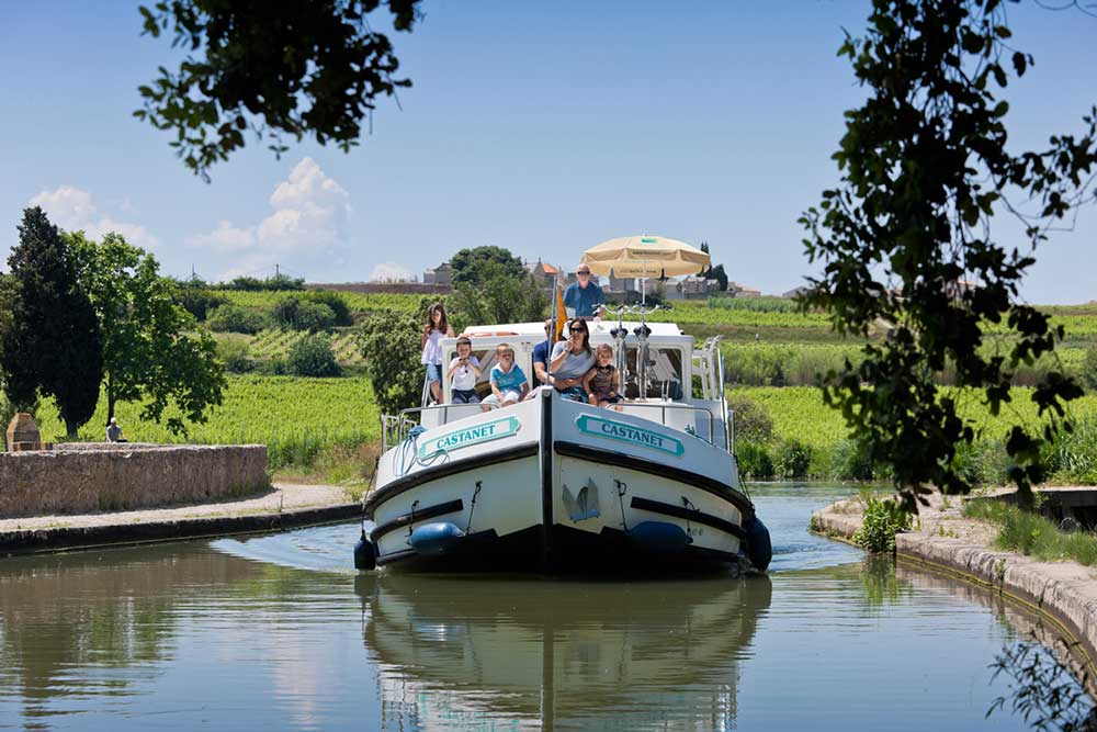 Canal cruise in Midi Lauragais