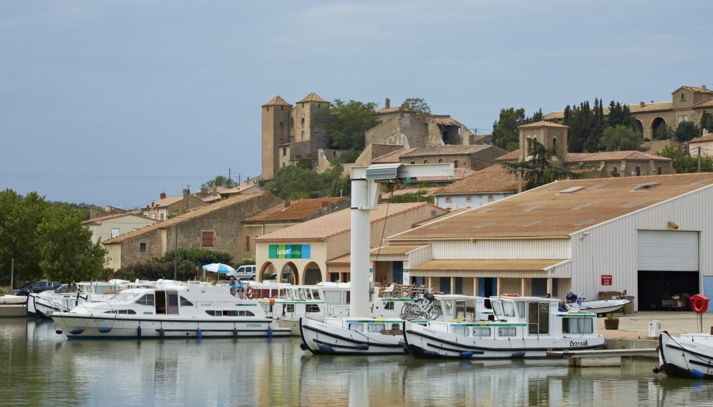 The port at Argens on the Canal du Midi