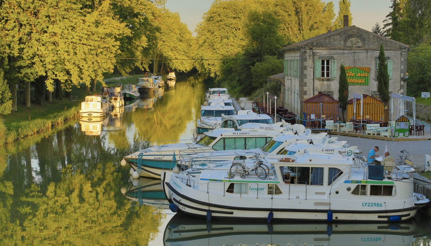 The port of Bram on the Canal du Midi