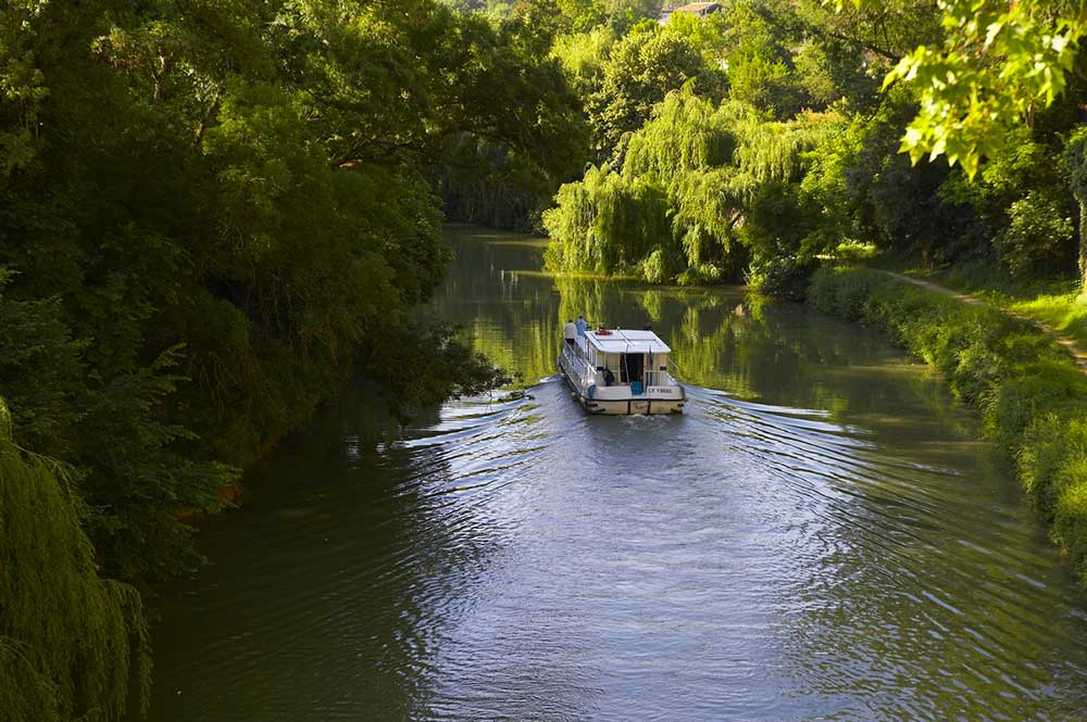Canal cruise in the South West of France